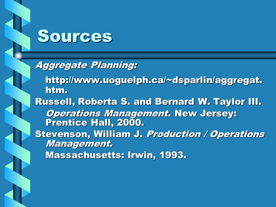Sources http://www.uoguelph.ca/~dsparlin/aggregat.htm.