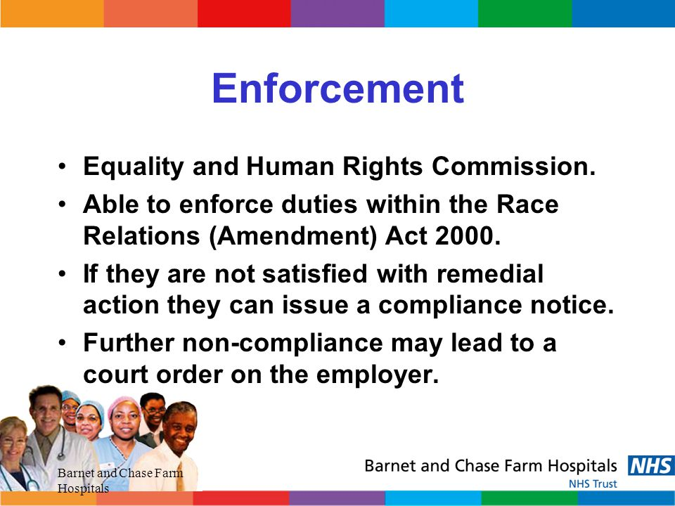 Enforcement Equality and Human Rights Commission.