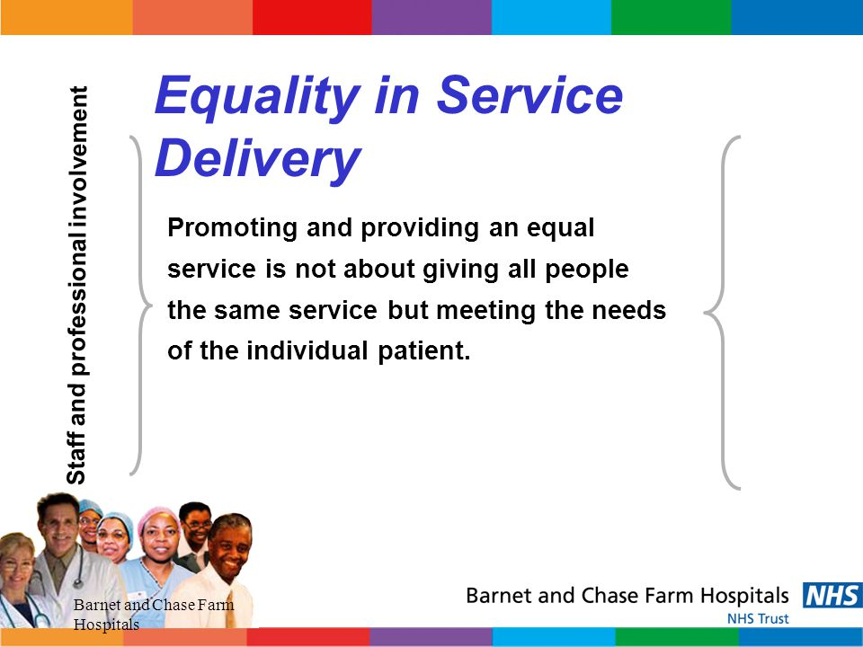 Equality in Service Delivery