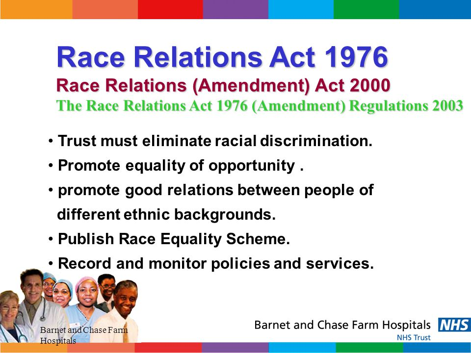 Race Relations Act 1976 Race Relations (Amendment) Act 2000