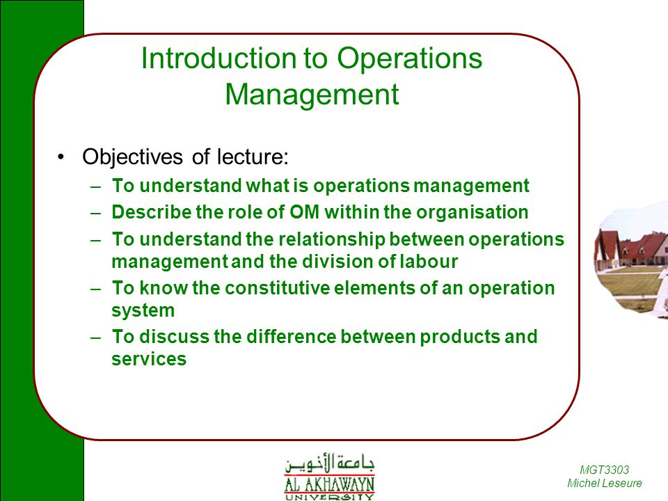 role of operations management Start studying business operations role of operations management learn vocabulary, terms, and more with flashcards, games, and other study tools.