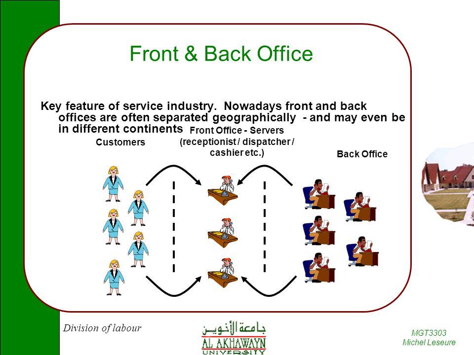 Front Office - Servers (receptionist / dispatcher / cashier etc.)
