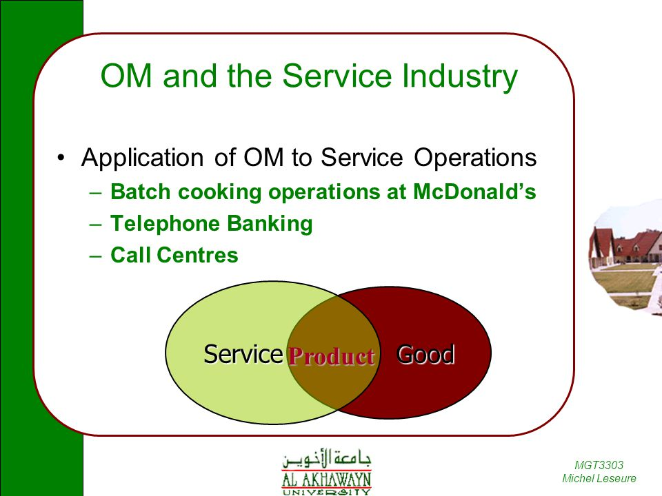OM and the Service Industry