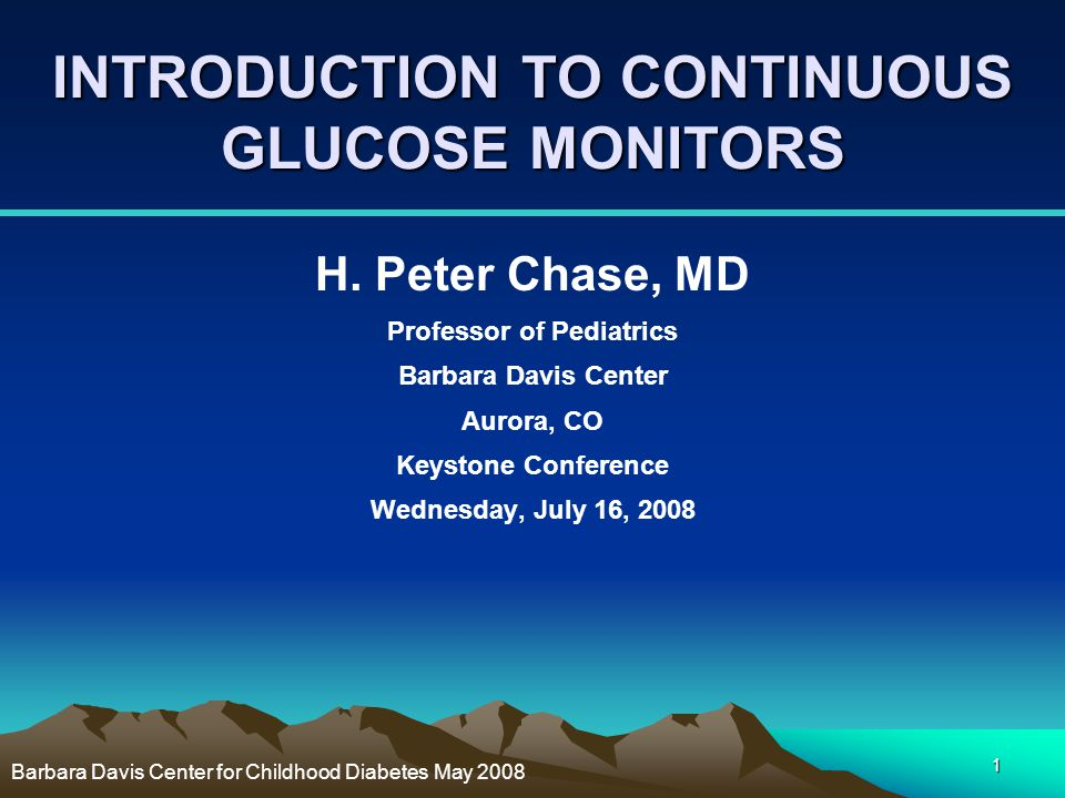INTRODUCTION TO CONTINUOUS GLUCOSE MONITORS