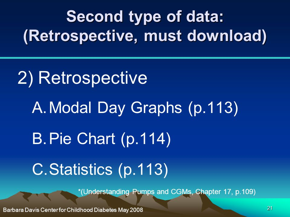 Second type of data: (Retrospective, must download)