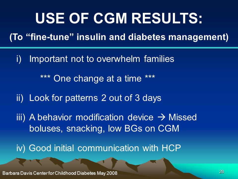 (To fine-tune insulin and diabetes management)