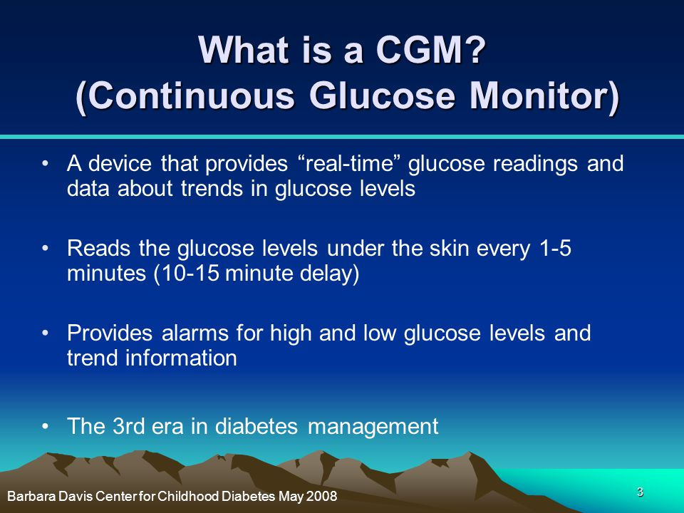What is a CGM (Continuous Glucose Monitor)