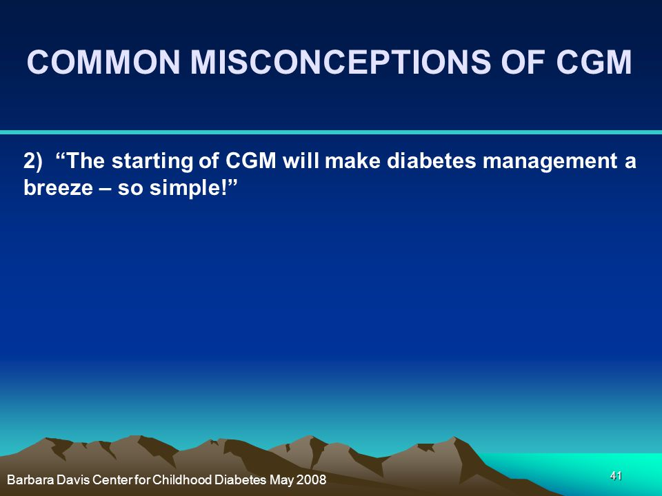 COMMON MISCONCEPTIONS OF CGM