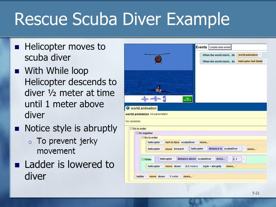 Rescue Scuba Diver Example