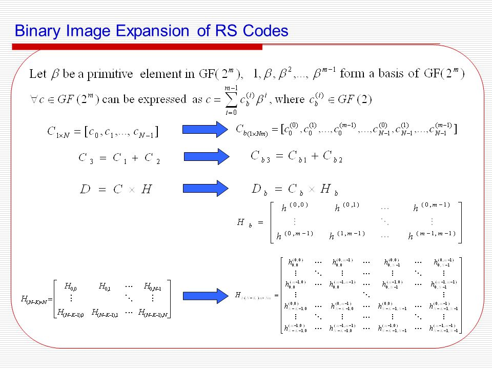 Binary Image Expansion of RS Codes