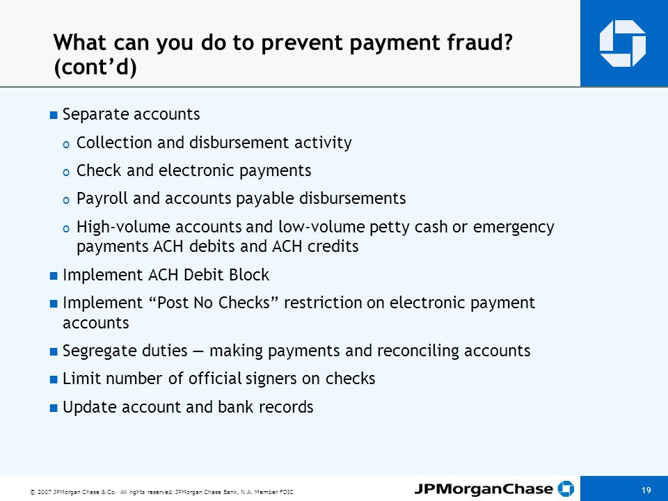 What can you do to prevent payment fraud (cont'd)
