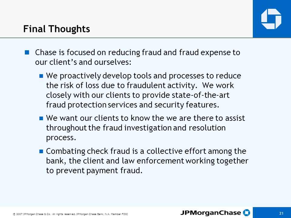 CHECK FRAUD: RECOGNIZE AND MANAGE RISK — ARE YOU PROTECTED
