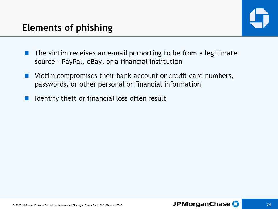 Typical phishing e-mail