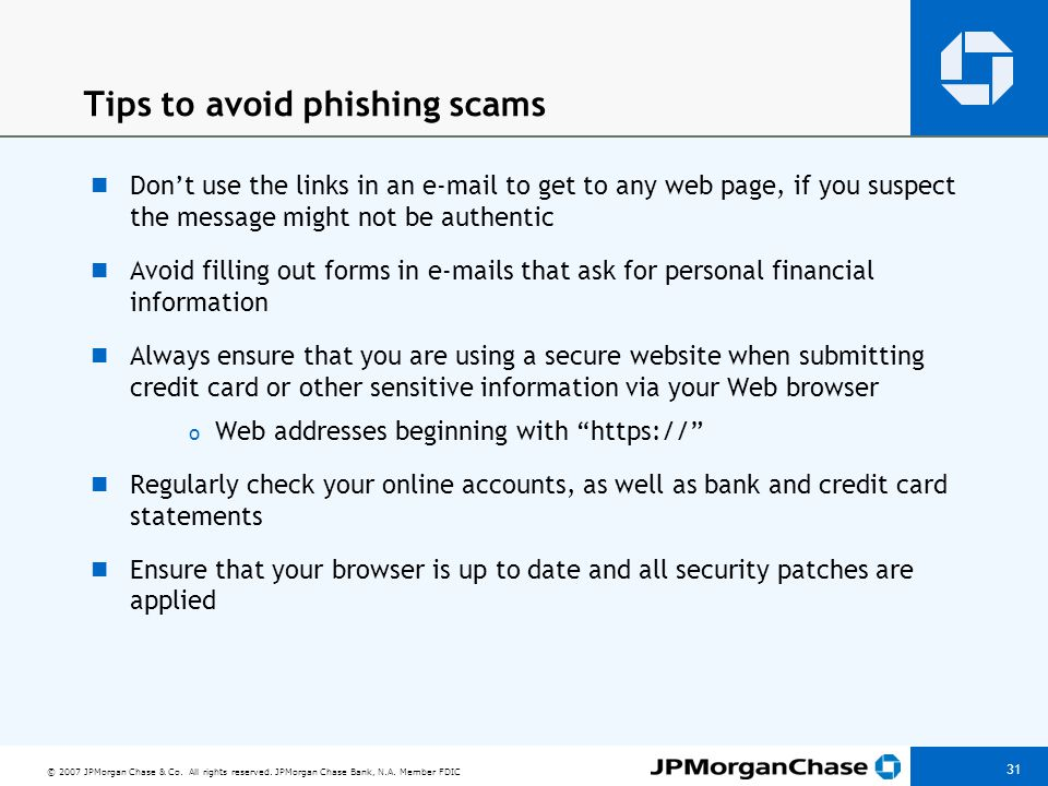 Report phishing scams