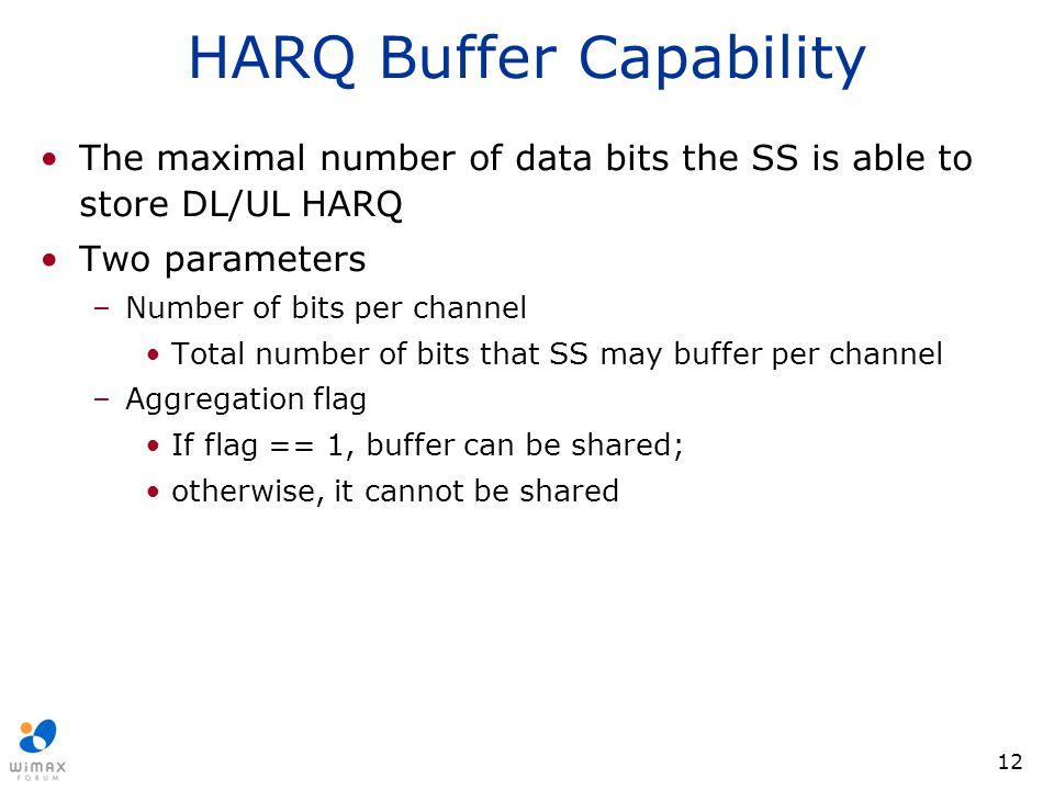HARQ Buffer Capability