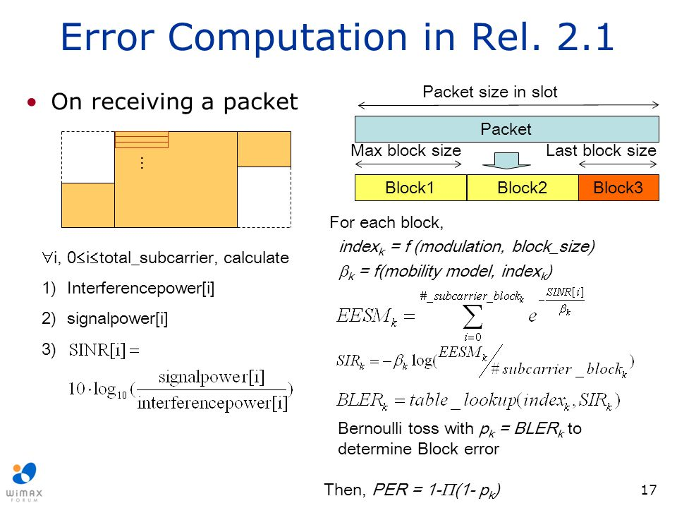 Error Computation in Rel. 2.1
