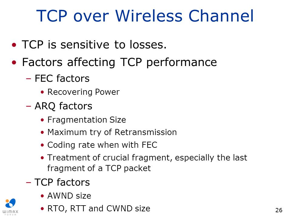TCP over Wireless Channel