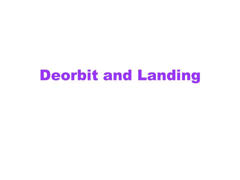 Deorbit and Landing