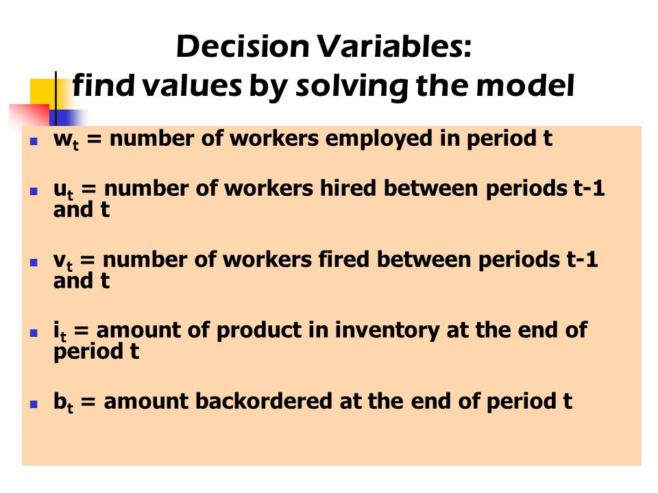 find values by solving the model