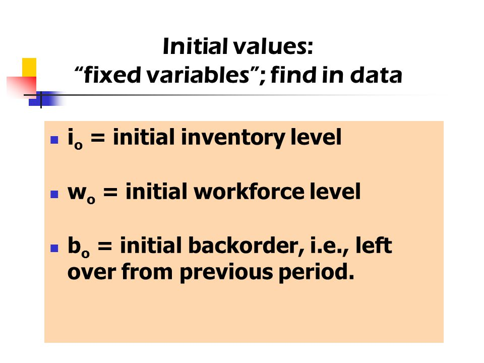 fixed variables ; find in data