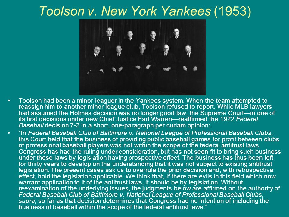 Toolson v. New York Yankees (1953)
