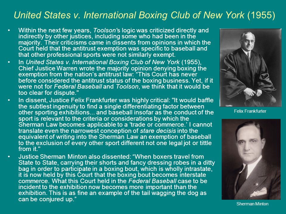United States v. International Boxing Club of New York (1955)