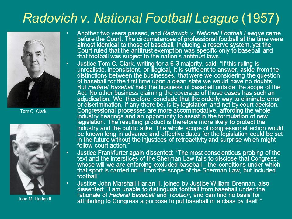 Radovich v. National Football League (1957)
