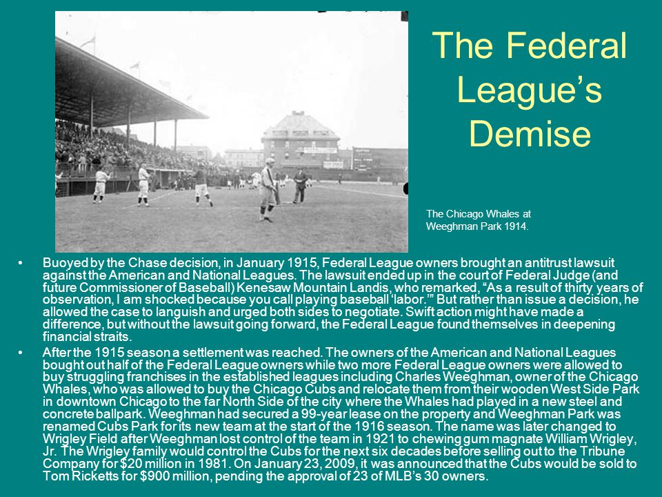 The Federal League's Demise