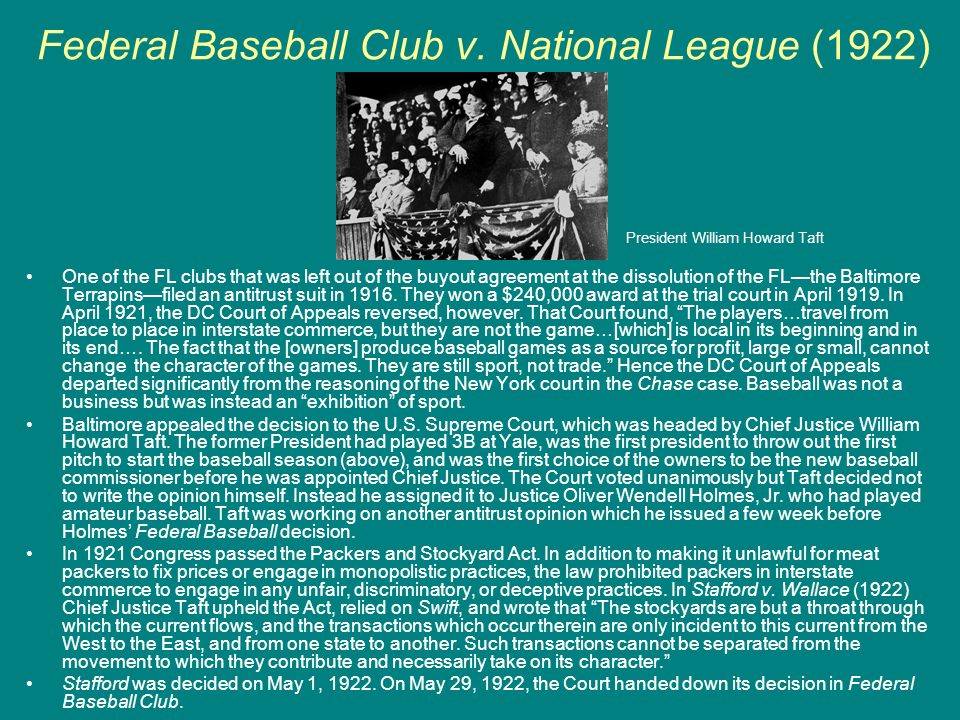 Federal Baseball Club v. National League (1922)