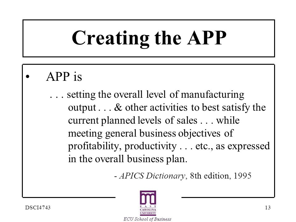 Creating the APP APP is.