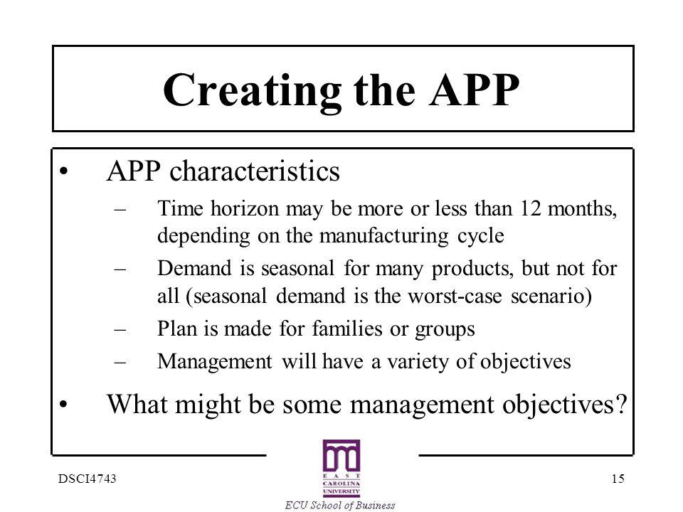 Creating the APP APP characteristics