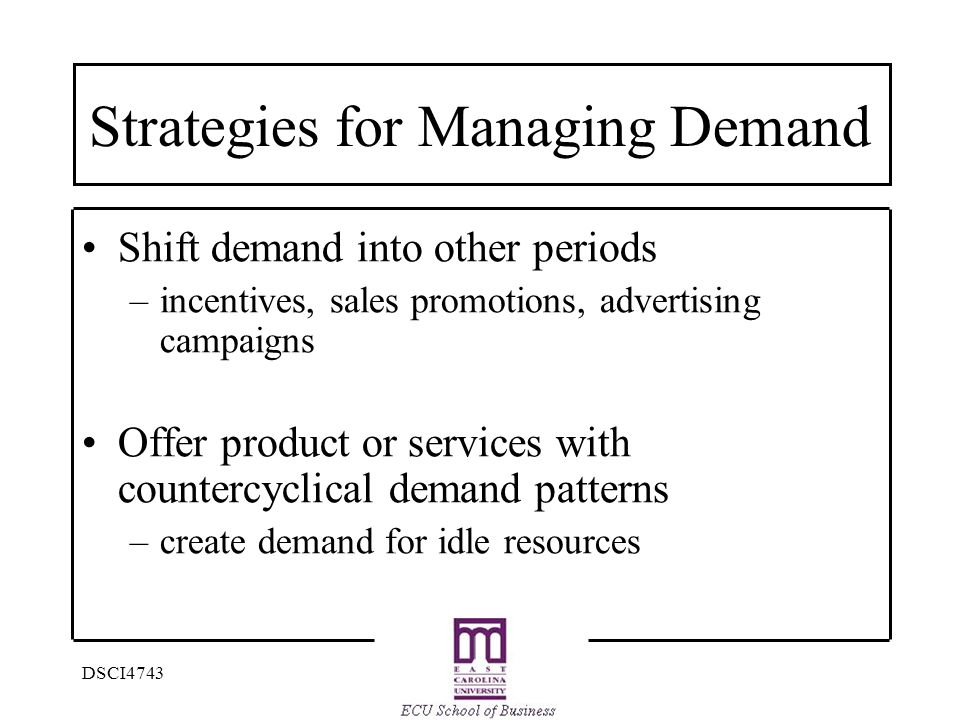 Strategies for Managing Demand