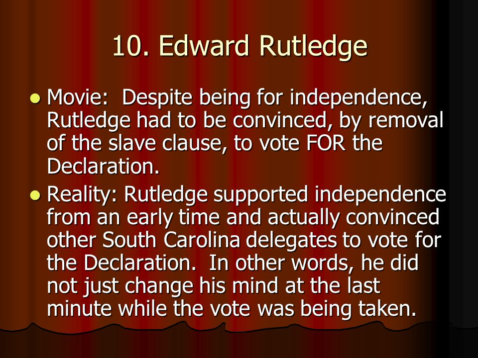 10. Edward Rutledge