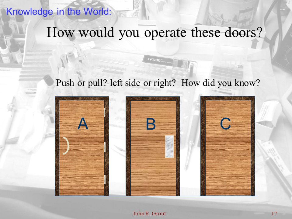 How would you operate these doors
