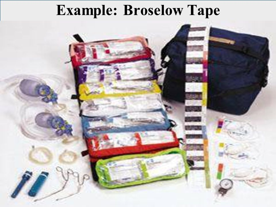 Example: Broselow Tape
