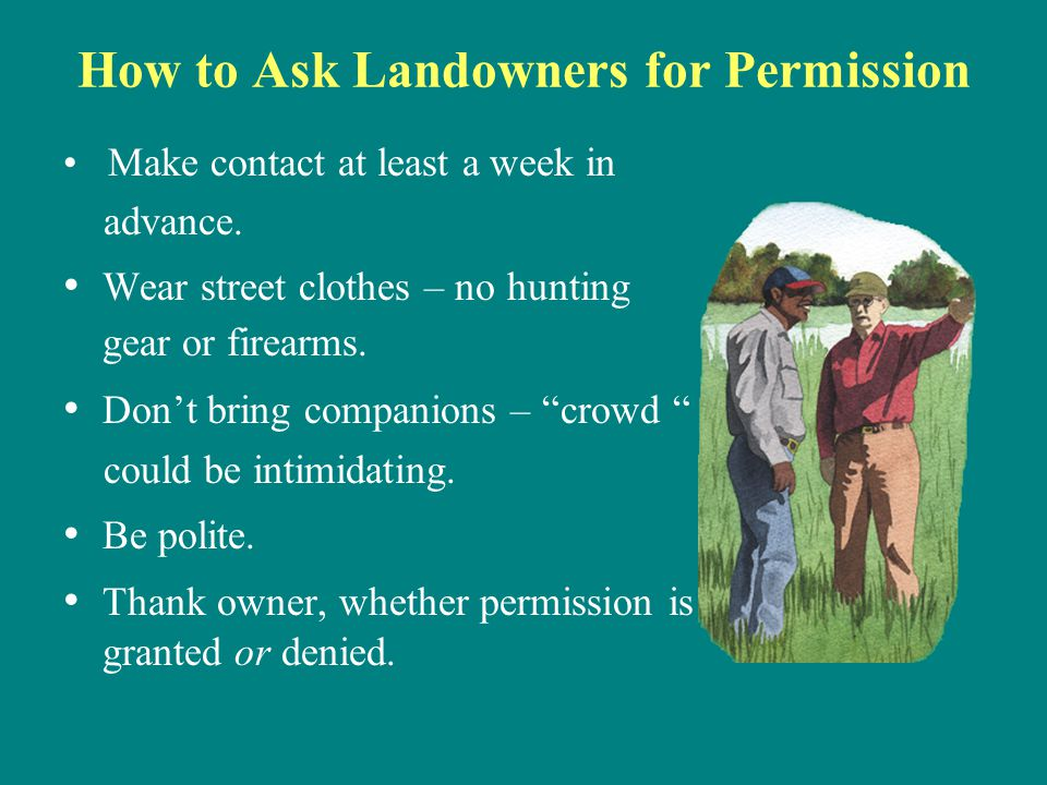 How to Ask Landowners for Permission