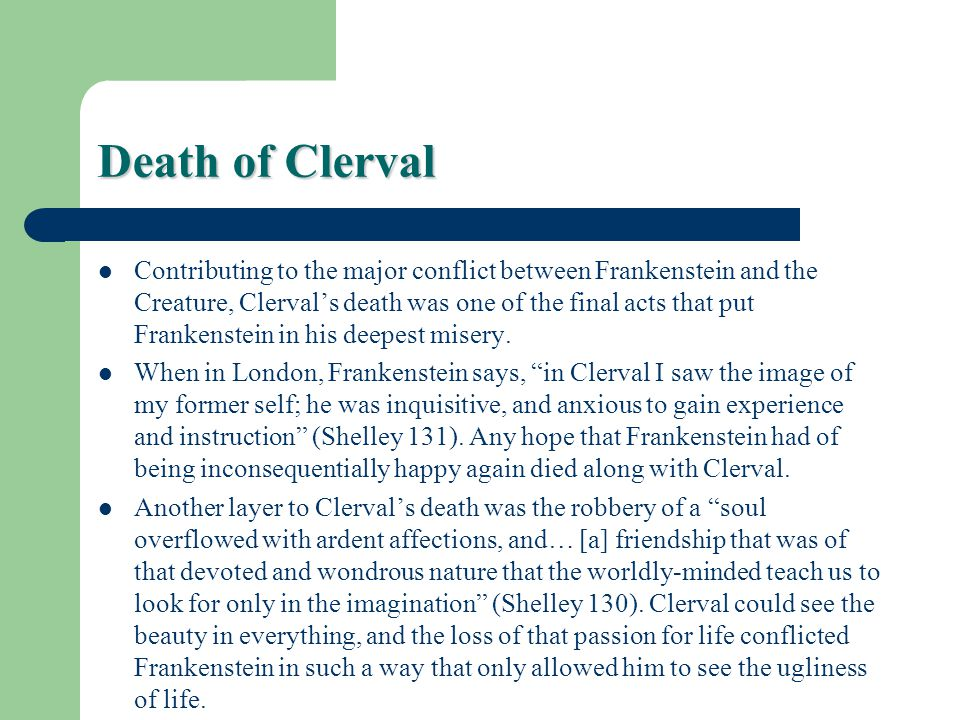 Death of Clerval
