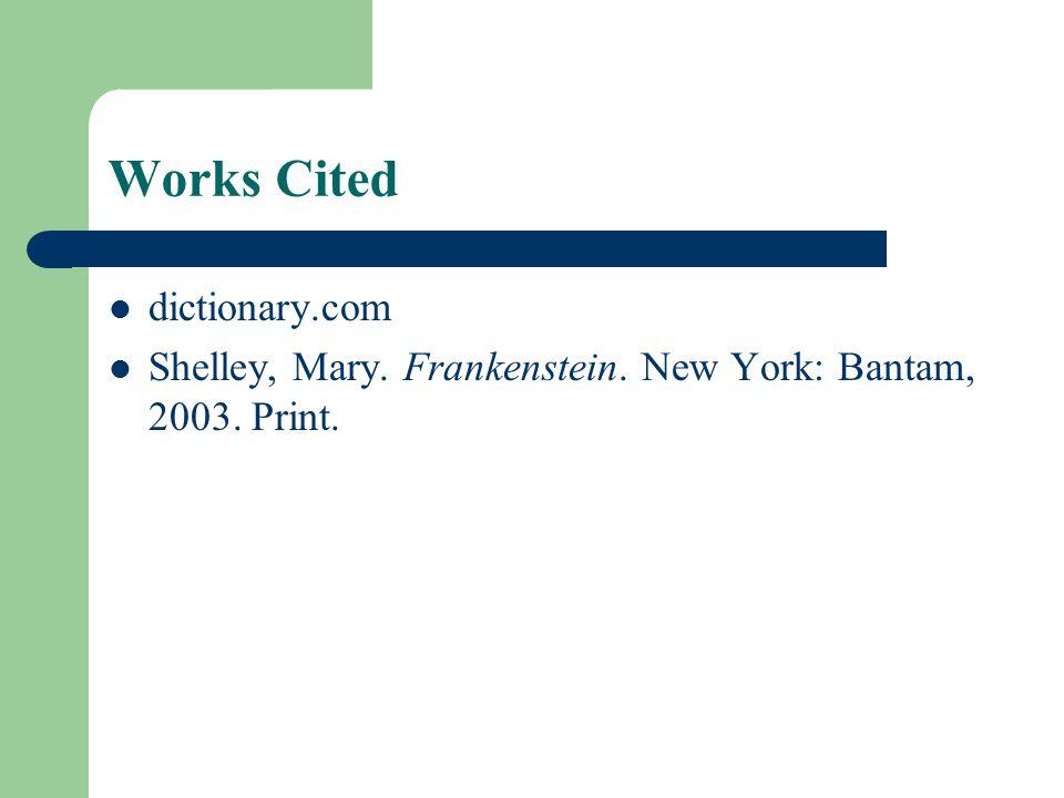 Works Cited dictionary.com