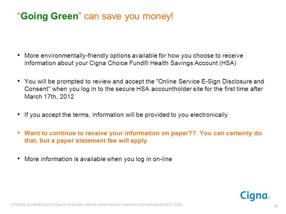 Going Green can save you money!