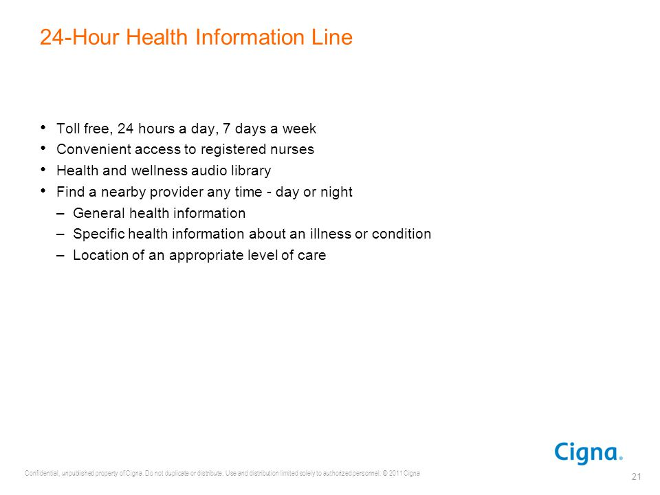 24-Hour Health Information Line