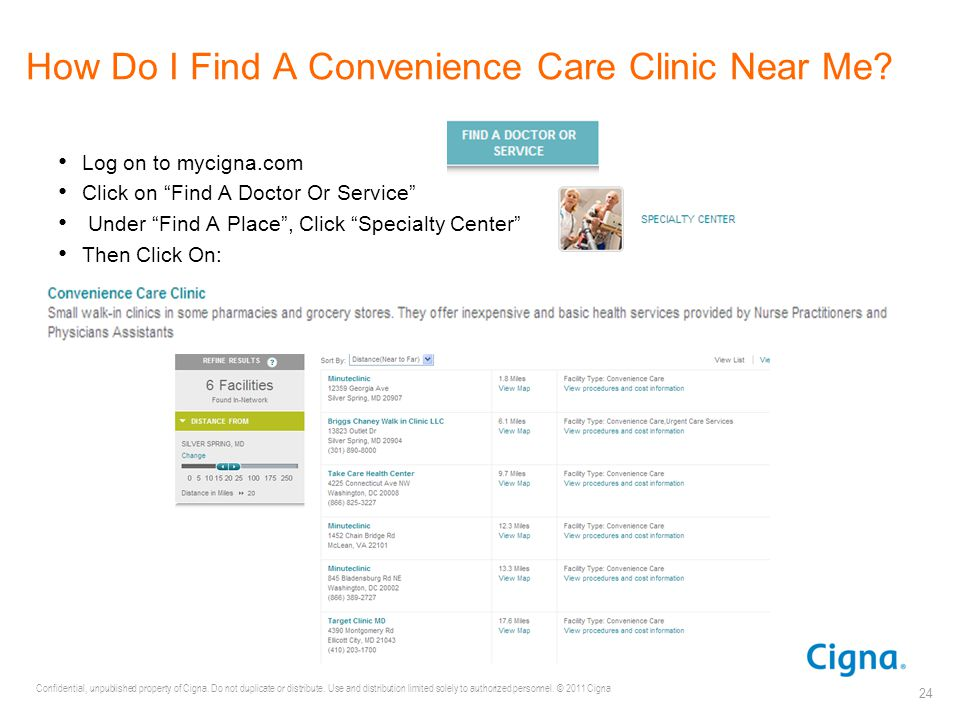 How Do I Find A Convenience Care Clinic Near Me