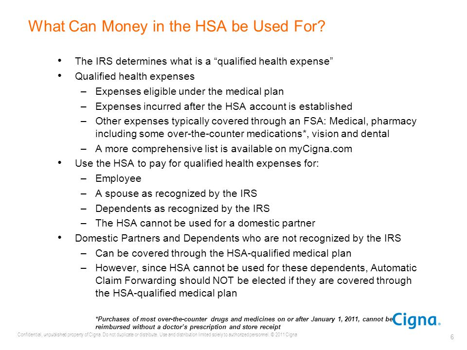 What Can Money in the HSA be Used For