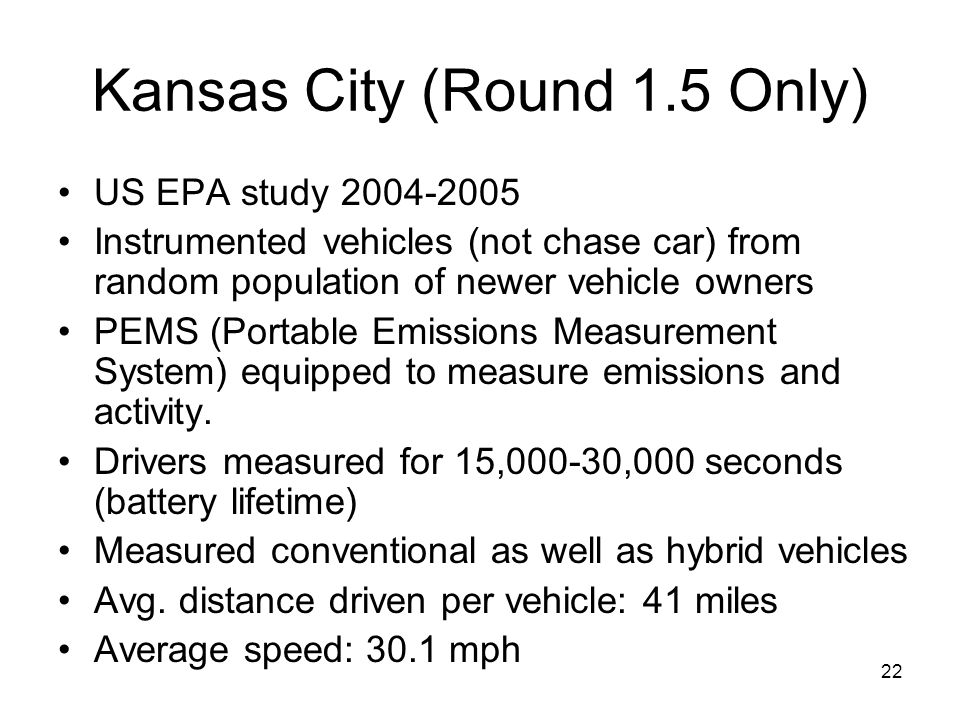 Kansas City (Round 1.5 Only)