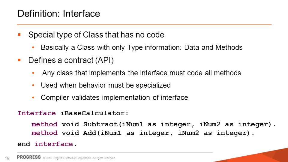 Definition: Interface