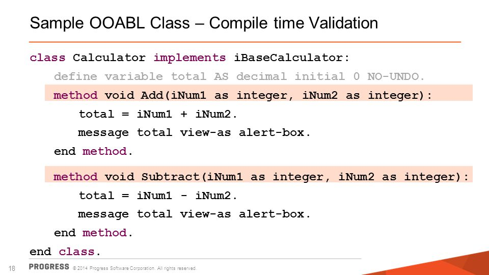 Sample OOABL Class – Compile time Validation