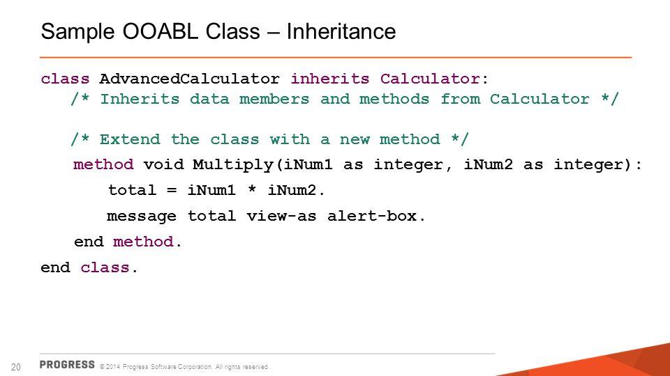 Sample OOABL Class – Inheritance