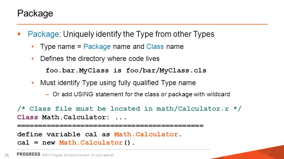 Package Package: Uniquely identify the Type from other Types