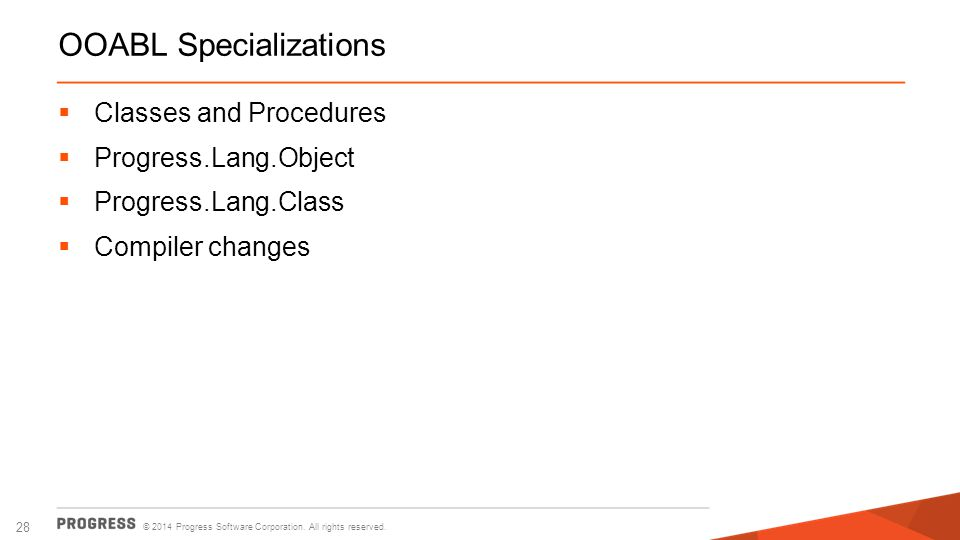 OOABL Specializations