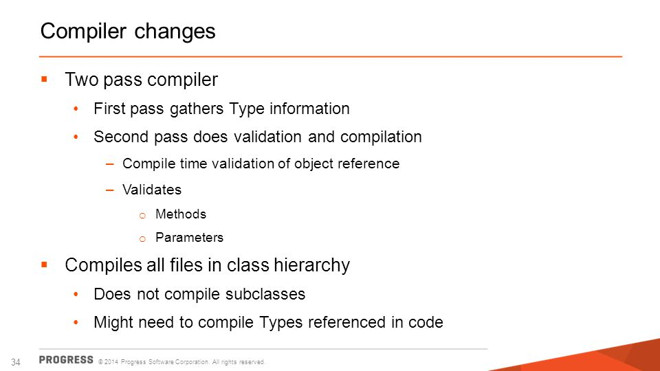 Compiler changes Two pass compiler