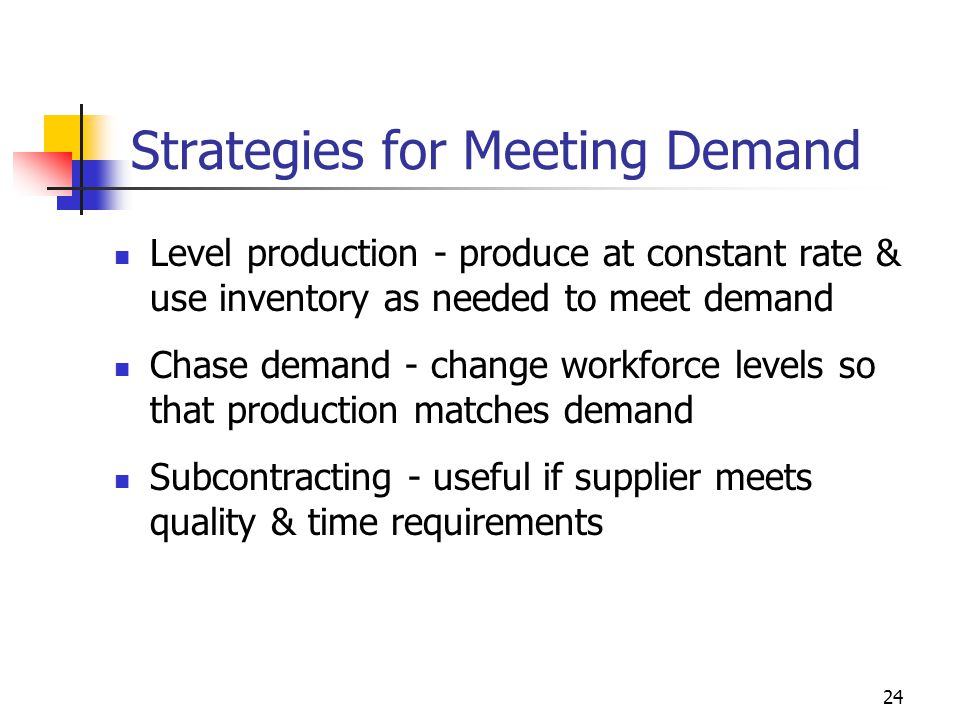 Strategies for Meeting Demand